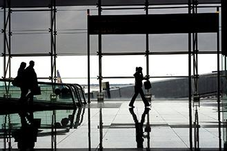 People at the bergamo airport